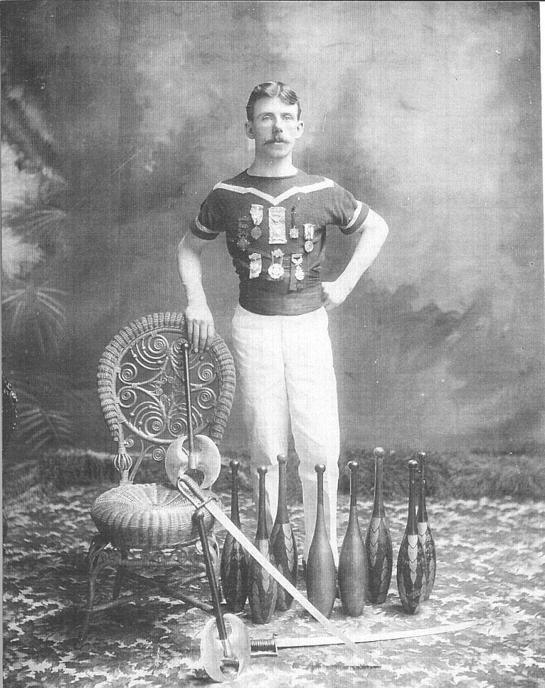 Peter Jordan c.1904, he did juggling for sport.