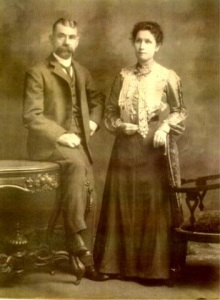 William Jordan with his 2nd wife Agnes Brown.