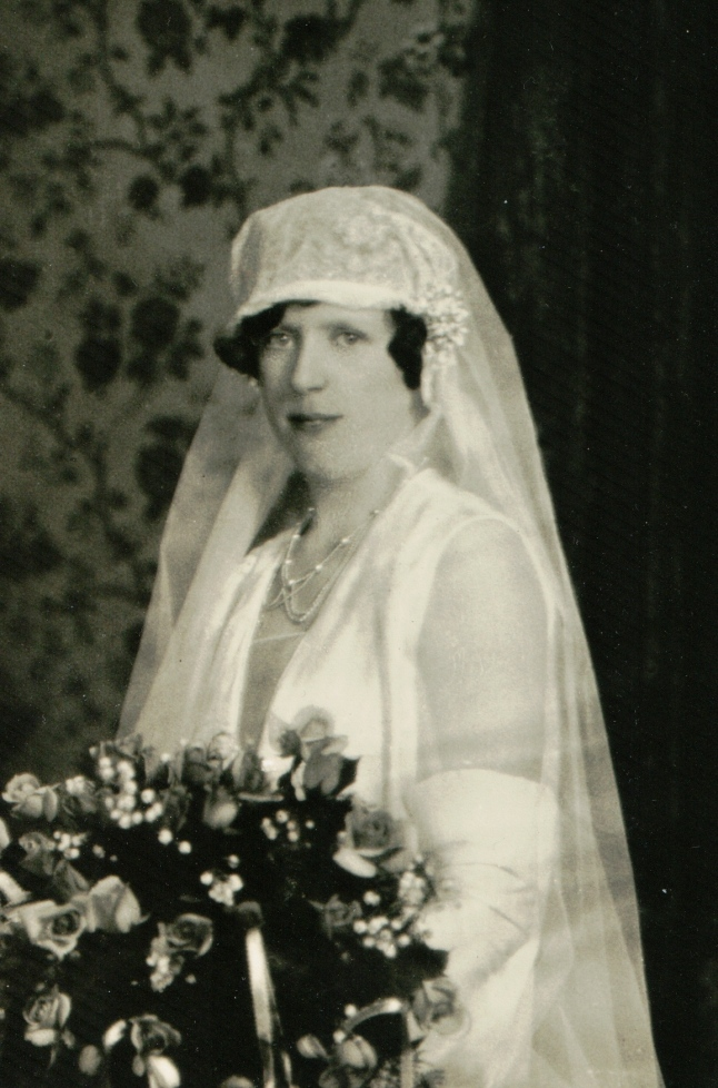 Beatrice Jordan on her wedding day.