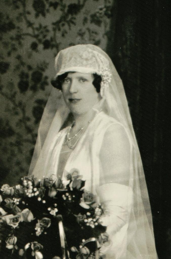Beatrice Jordan on her wedding day.