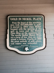Plaque on the wall at the Hedley Museum.