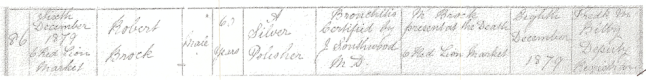 Robert Brock's death registration