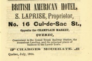 1864-1865 Quebec Directory