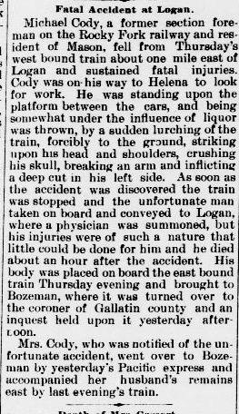 Cody, Michael - The Livingston Enterprise Mar 19 1892  copy 2.jpg