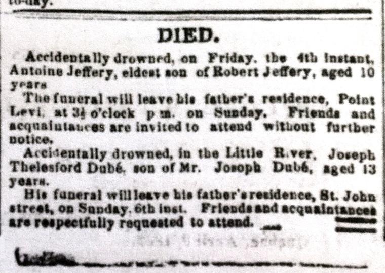 JEFFERY, Antoine obit The Morning Chronicle Jul 5 1862 p2.JPG