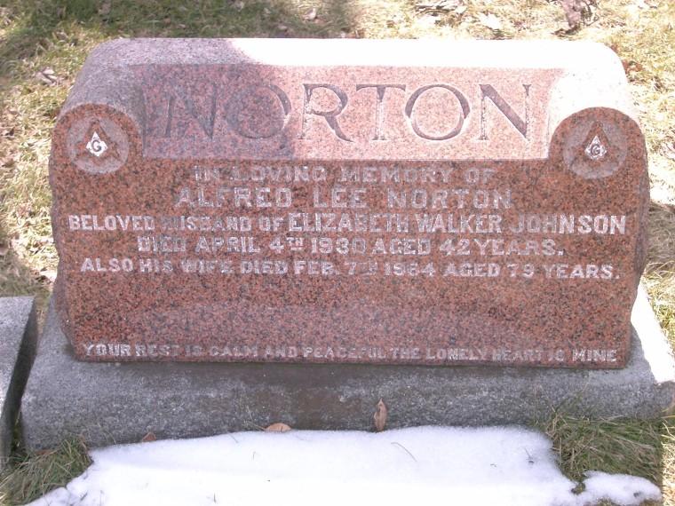 Alfred Norton headstone