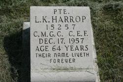 Riverside HARROP, Louis Karl d. 1957 Memorial Park Cemetery, Regina