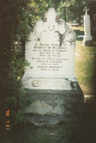 David Stewart stone King Cemetery