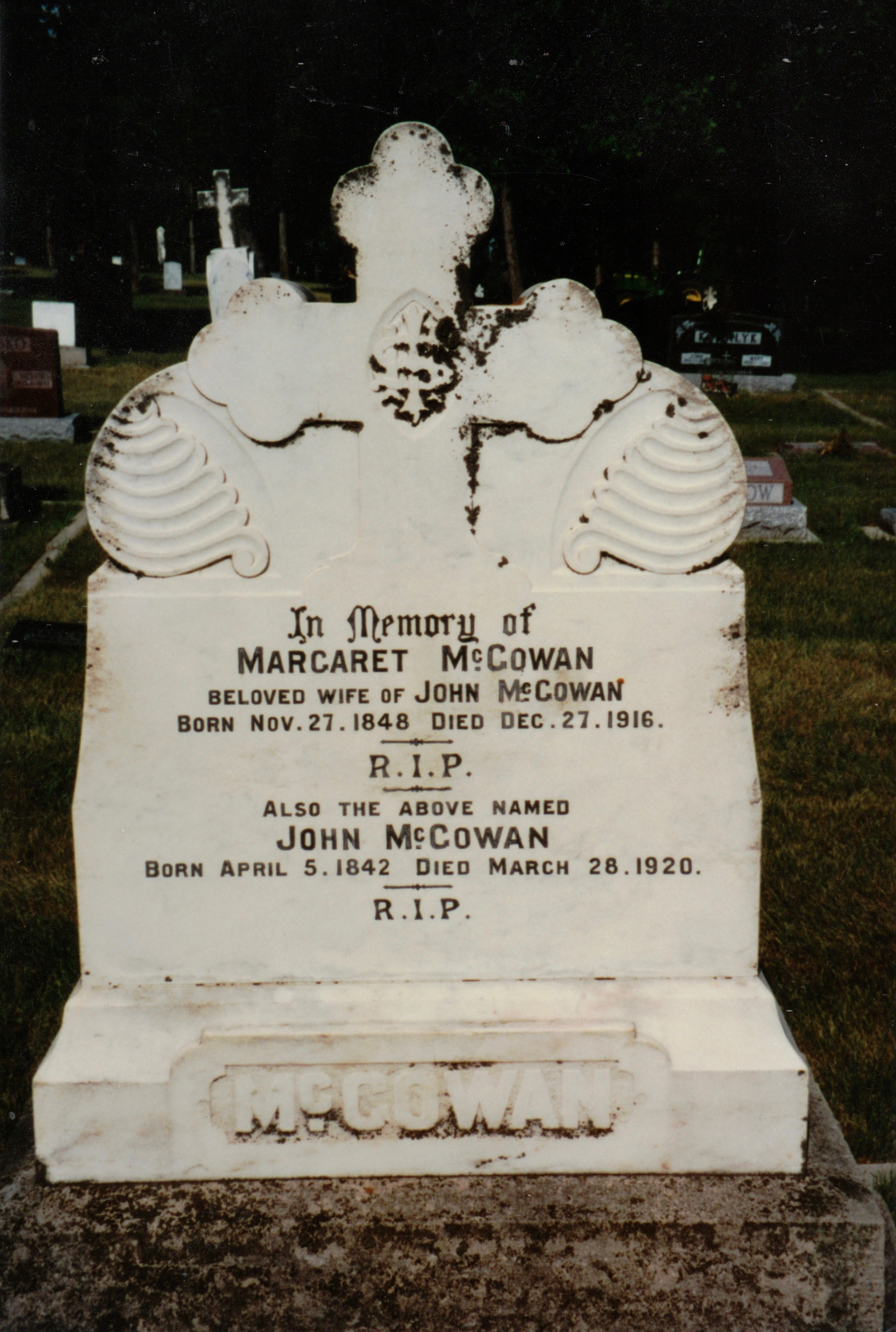 McGowan stone, King Cemetery