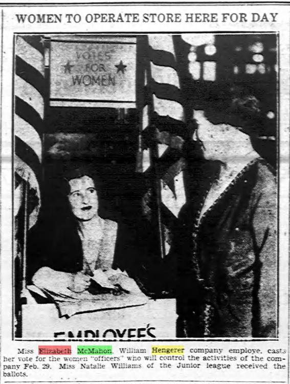 McMahon Eliza Buffalo Evening News Jan 27 1932