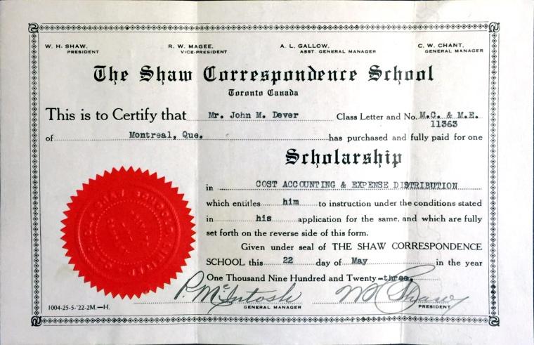 Dever, John M. Correspondence School