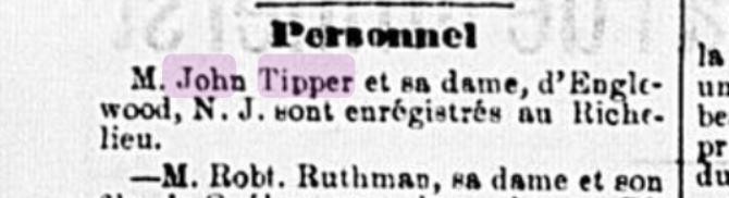 John Tipper - L'Étendard, samedi 17 septembre 1887