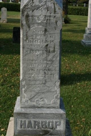 Harrop, Isabelle headstone